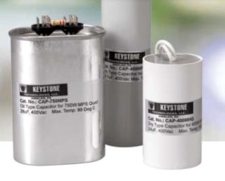 CAP-400MPS CAPACITOR FOR 400W PULSE START MH, 26UF, 330V, DRY FILM