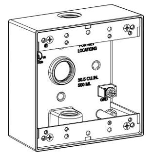 ORBT 2B50-3 2-G W/P BOX 3 1/2IN HUBS 2IN DEEP