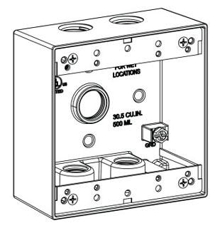 ORBT 2B50-5 2-G W/P BOX 5 1/2IN HUBS 2IN DEEP