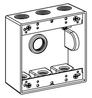 ORBT 2B50-7 2-G W/P BOX 7 1/2IN HUBS 2IN DEEP