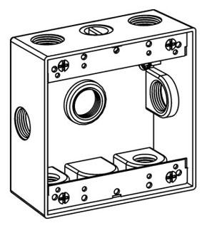 ORBT 2B50-7X 2-G W/P BOX 7 1/2IN HUBS 2IN DEEP