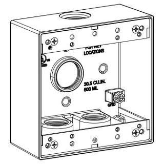 ORBT 2B75-4 2-G W/P BOX 4 3/4IN HUBS 2IN DEEP