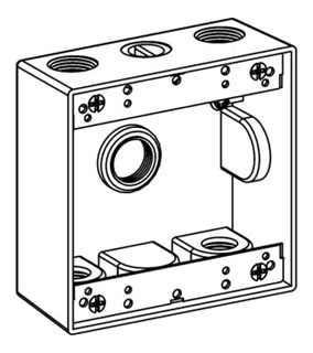 ORBT 2B75-5 2-G W/P BOX 5 3/4IN HUBS 2IN DEEP