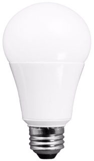 TCP-L15A19D2530K 15W 120V 3000K MEDIUM (E26) BASE DIMMABLE LED A19 LAMP 1625 LUMENS 25,000 HOUR AVERAGE RATED LIFE