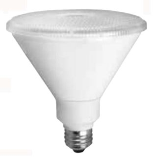 TCP-LED14P38D30KNFL DIMMABLE 14W SMOOTH PAR38 - 3000K 25 DEGREE