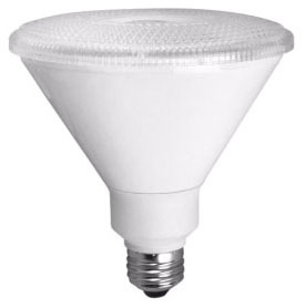TCP-LED14P38D30KFLB DIMMABLE 14W SMOOTH PAR38 - 3000K 40 DEGREE BLACK
