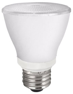 TCP LED8P20D41KNFL TCP 8W PAR20 4100K 525 LUMEN DIMMABLE 25DEG LED LAMP