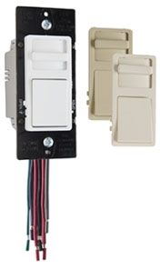 WATT WS4FBL3P-TC WideSlide 0-10V LED Preset SP/3way Dimmer/Switch 10A 120v 5A 277v Tri-Color (Wht/Iv/Lt Almd faces incl in box)
