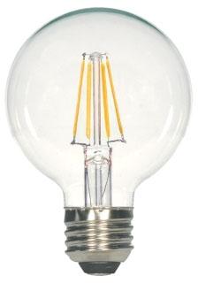 SAT S29563 4.5G25/CL/LED/E26/27K/ /120V 4.5W G25 LED CLEAR MED BASE 2700K 450 lumens 120V