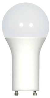 sat S29841 SAT 9.8W A19 3500K 800 LUMEN DIMMABLE GU24 BASE 120V LED LAMP
