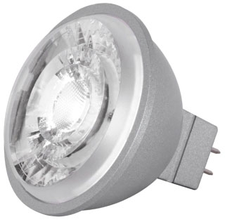 (S8636) 8MR16/LED/15/30K/90CRI/12V 8W 12V 3000K BI-PIN (GU5.3) BASE DIMMABLE 15-DEGREE LED MR16 LAMP 490 LUMENS 25,000 HOUR AVERAGE RATED LIFE