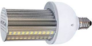 (S8904) 20W/LED/HID/WP/3K/E26/100-277V 20W 100-277V MEDIUM (E26) BASE 3000K NON-DIMMABLE BALLAST BYPASS HORIZONTAL BURN HI-PRO HIGH LUMEN INDUSTRIAL/COMMERCIAL LED LAMP 2800 LUMENS 50,000 HOUR AVERAGE RATED LIFE