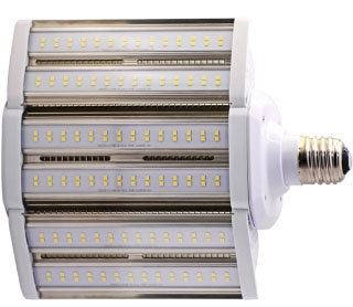 SAT S8938 110W/LED/HID/SB/5K/E39 100-277V 400W LED HID Shoe Box Style Lamp Replacement 5000K Mogul base 14000Lm Enclosed Rated