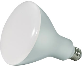 SAT S9639 16.5BR40/LED/3000K/1200L /120V 16.5W LED BR40 3000K 103' beam spread MED BASE Dimmable