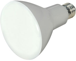SAT 8BR30/LED/2700K/650L/2PK S9698 2700K BR30 LED FLOOD 650Lm 65w Equiv 120v Dim 25000Hr **TWO/PACK but Sold By The Each**