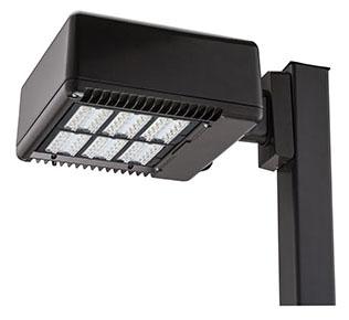 lit KAD-LED-60C-1000-50K-R3-MVOLT- SPUMBAK-04-DDBXD LIT LED AREA LIGHT 5000K SQUARE POLE 4