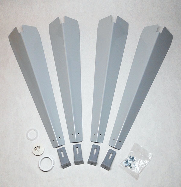 18.300F FLOOR MOUNTING HARDWARE FOR 15F, 18F, & 19F LAUNDRY TUBS