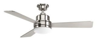 prg P2556-0930K PRG TREVNIA II CEILING FAN BRUSHED NICKEL W/SILVER BLADES
