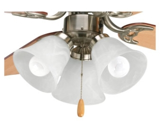prg P2600-09WB PRG 3-LT AirPro Ceiling Fan Light GR