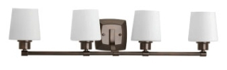 prg P300019-020 PRG Glance 4-100W MED BATH BRACKET brown