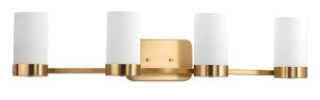 prg P300023-109 PRG 4-100W MED BATH BRACKET GOLD