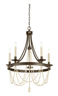 prg P400004-020 PRG 5-60W CAND CHANDELIER ABZ