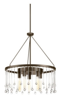 prg P400007-020 PRG 5-60W MED CHANDELIER brown