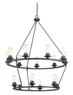 prg P400017-143 PRG 15-60 BLACK CHANDELIER DEBUT