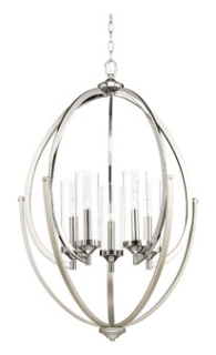 prg P400025-104 PRG 5-60W CAND CHANDELIER GREY