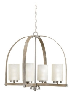 prg P400027-009 PRG ASPEN CREEK 4-100W MED CHANDELIER GREY