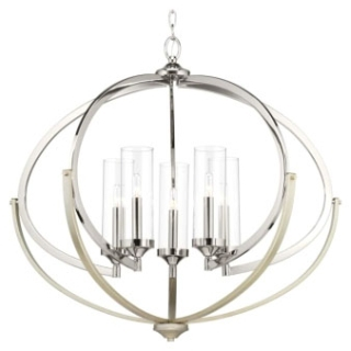 prg P400117-104 PRG Five-Light Chandelier Nickel