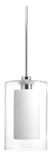 prg P500019-015 PRG DOUBLE GLASS 1-100W MED PENDANT