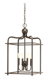 prg P500036-020 PRG Assembly Hall 4-60W CAND PENDANT brown