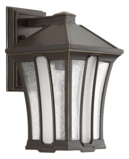 prg P560008-020 PRG 1-100W MED WALL LANTERN BROWN