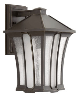 prg P560009-020 PRG 1-100W MED WALL LANTERN BROWN