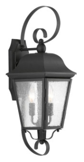 prg P560011-031 PRG 2-60W CAND WALL LANTERN BK