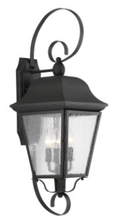 prg P560012-031 PRG 3-60W CAND WALL LANTERN BK