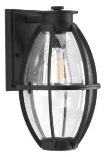 prg P560024-031 PRG 1-100W MED WALL LANTERN BLACK