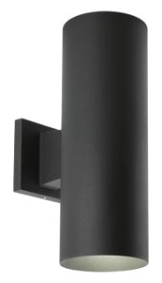 prg P5675-31/30K PRG 2/17W LED BLACK UP/DOWN CYLINDER OUTDOOR WALL MOUNT