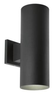 prg P5675-31/30K PRG 2/17W LED BLACK UP/DOWN CYLINDER OUTDOOR WALL MOUNT