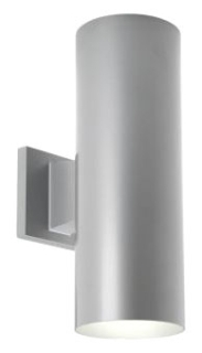 prg P5675-82/30K PRG 2/17W LED METALLIC GRAY UP/DOWN OUTDOOR CYLINDER WALL MOUNT