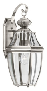 prg P6611-09 PRG 1/100 BN W/CLEAR BEVELED GLASS OUTDOOR WALL MOUNT