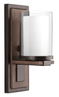 prg P710015-020 PRG 1-100W MED WALL SCONCE brown