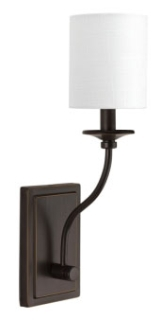 prg P710018-020 PRG 1-60W CAND WALL SCONCE BROWN