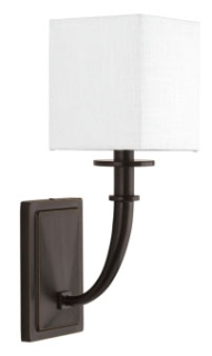 prg P710025-020 PRG 1-60W CAND WALL SCONCE BROWN
