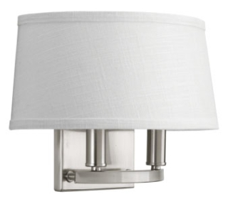 prg P7172-09 PRG 2-60W CAND WALL SCONCE grey