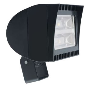 RAB FXLED150T/PCT RAB LED FLOOD 150W 5000K 14440 LUMEN 480V TRUNNION MOUNT W/ 120-277V PHOTOCELL BRONZE