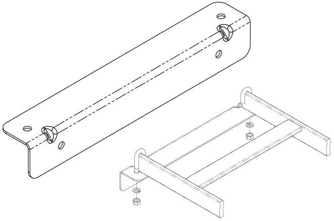 CPI 12 Black Wall Angle Support Kit