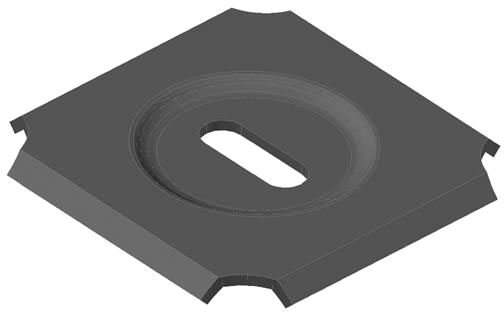 CPI Cable Tray Clamp Washer 25PK Black