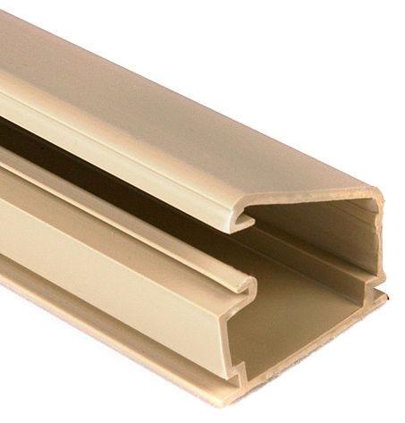 Tyton 1-1/4 Plastic Latch Duct Ivory 8ft
